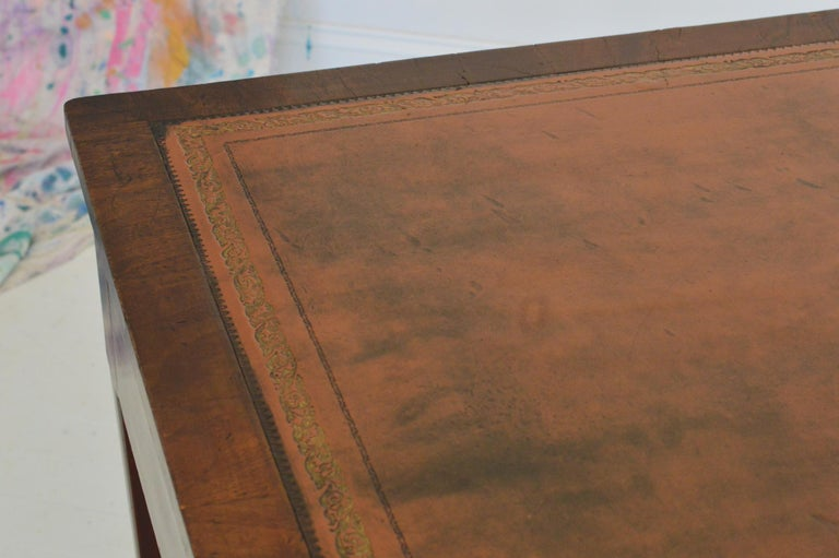 19th Century Regency Partners Desk or Writing Table of Mahogany For Sale