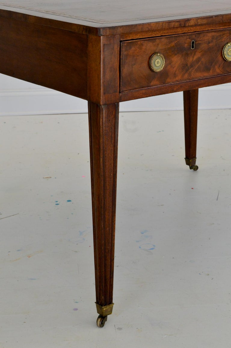 Regency Partners Desk or Writing Table of Mahogany For Sale 1