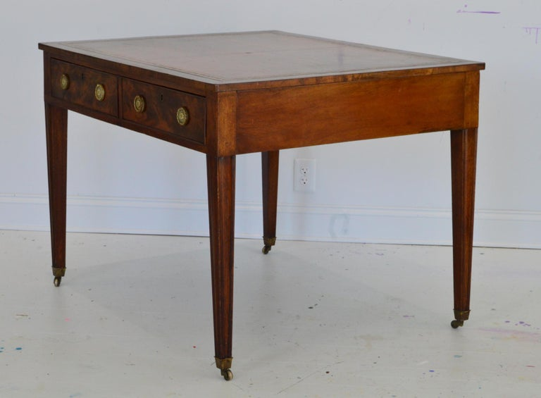 Regency Partners Desk or Writing Table of Mahogany For Sale 2