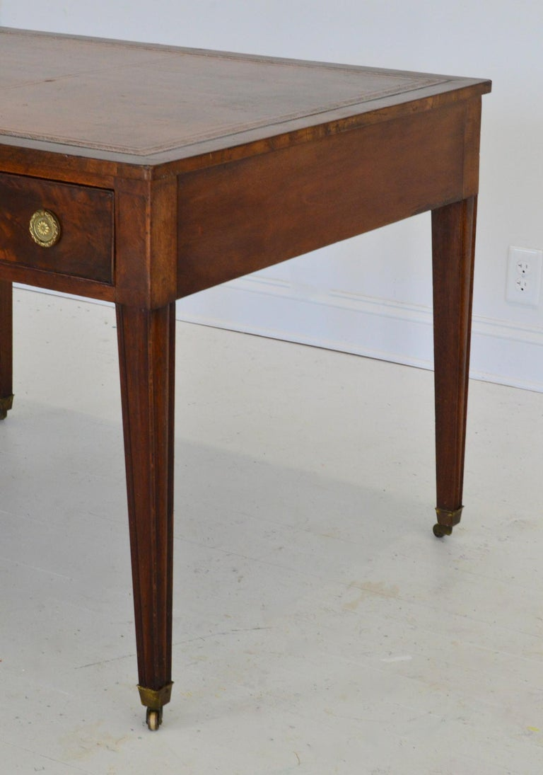 Regency Partners Desk or Writing Table of Mahogany For Sale 3