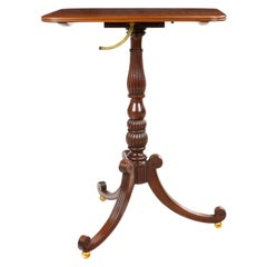 Regency Pedestal Table Attributed to Gillows of Lancaster and London in Plumb Pu