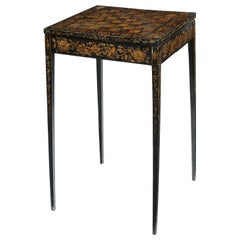 Regency Penwork Decorated Chess Table / Occasional Table