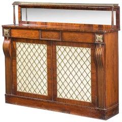Regency Period Brass Inlaid Chiffonier