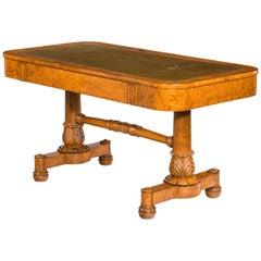 Regency Period Burr Amboyna Library / Writing Table