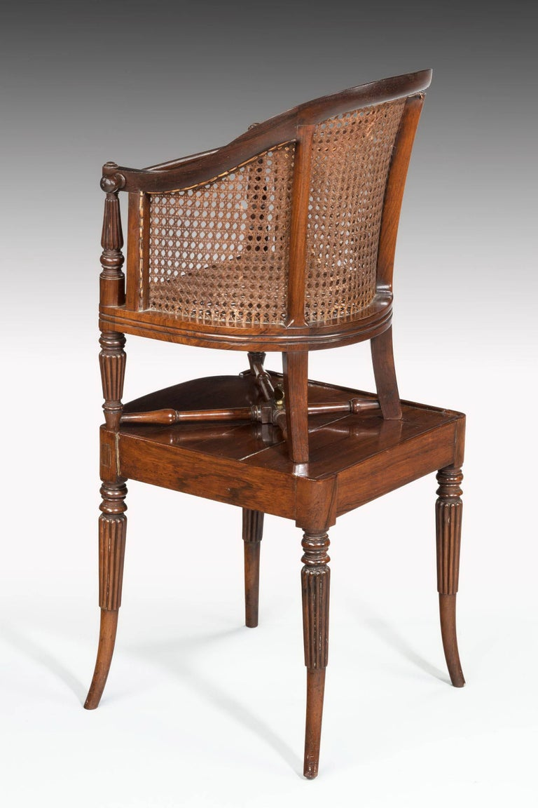 English Regency Period Child's Chair on Stand For Sale