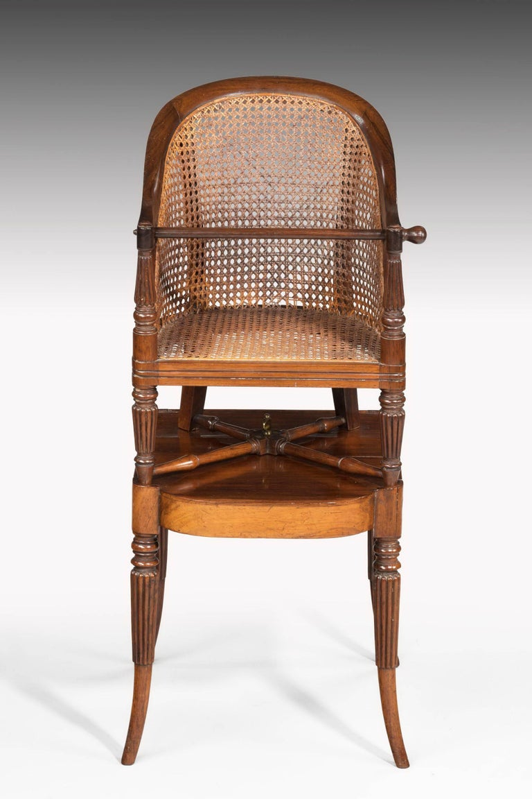 Regency Period Child's Chair on Stand In Good Condition For Sale In Peterborough, Northamptonshire