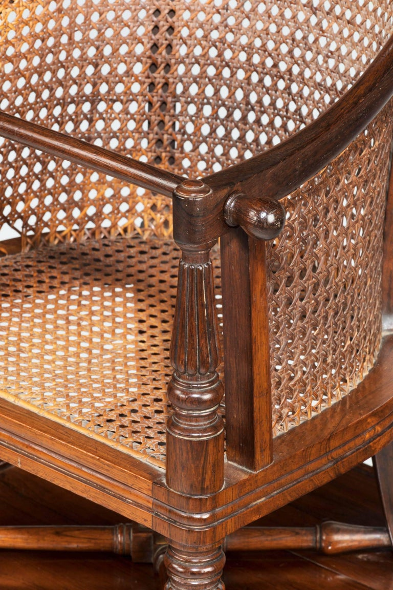 Cane Regency Period Child's Chair on Stand For Sale