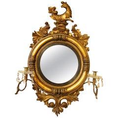 Regency Period Convex Gilt Mirror