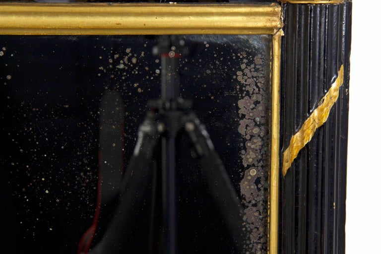 Regency Period Ebonized and Parcel Gilt Pier Mirror circa 1815 For Sale 6