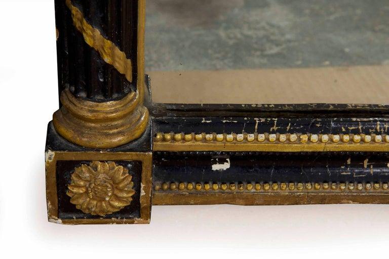 Regency Period Ebonized and Parcel Gilt Pier Mirror circa 1815 For Sale 8
