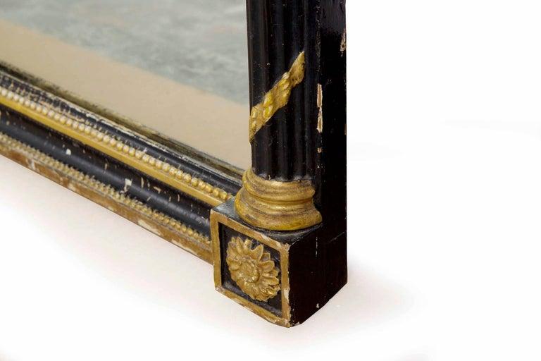 Regency Period Ebonized and Parcel Gilt Pier Mirror circa 1815 For Sale 10