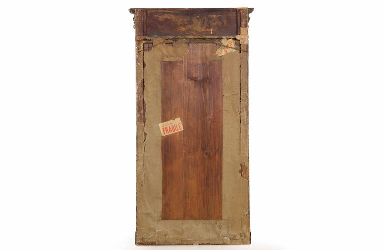 Regency Period Ebonized and Parcel Gilt Pier Mirror circa 1815 For Sale 12