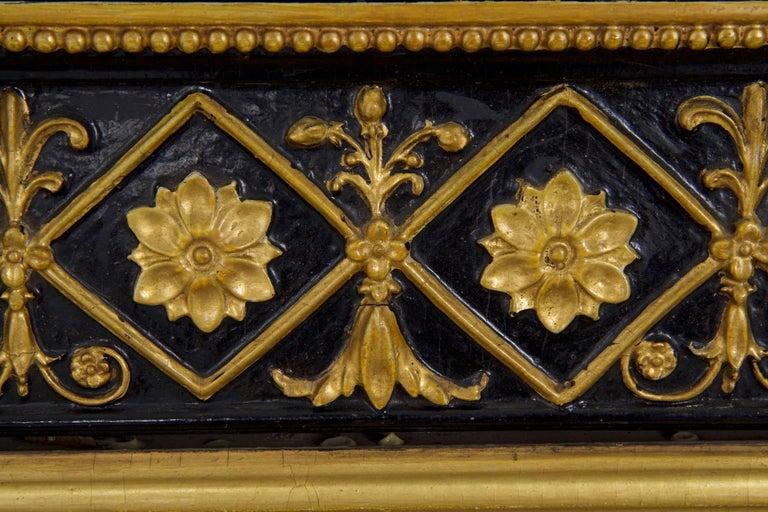 Regency Period Ebonized and Parcel Gilt Pier Mirror circa 1815 For Sale 3