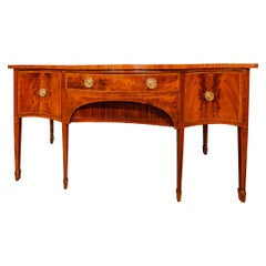Regency Period Flame Mahogany and Rosewood Inlayed Sideboard