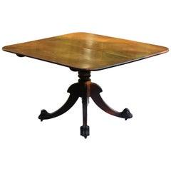 Regency Period Irish Mahogany Tilt Top Breakfast Table with Claw and Ball Feet