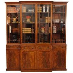 Regency Period Mahogany Breakfront Bookcase