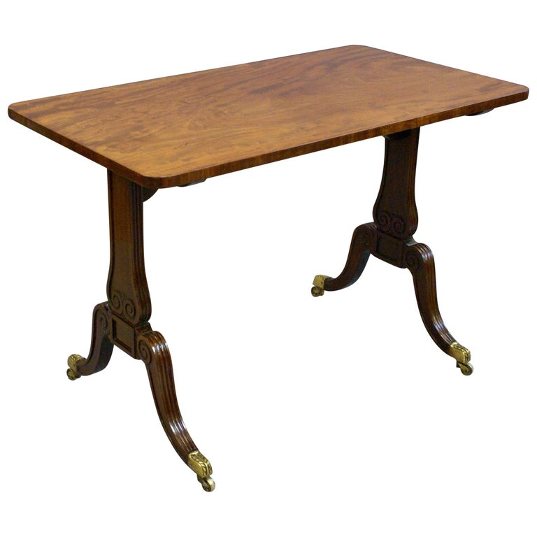 Regency Period Mahogany End- Support Stretcher or Sofa Table, circa 1820
