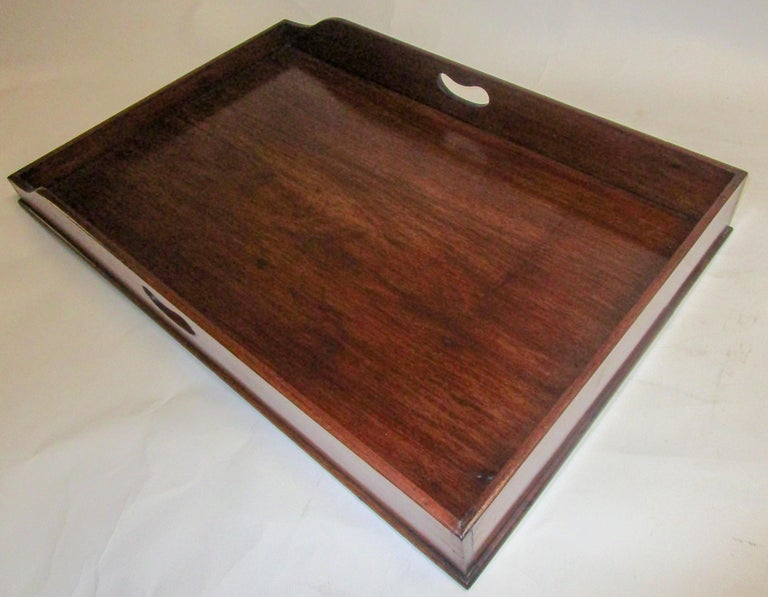 Regency Period Mahogany English Butler's Tray on Stand For Sale 7