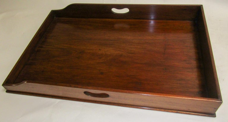 Regency Period Mahogany English Butler's Tray on Stand In Good Condition For Sale In Savannah, GA