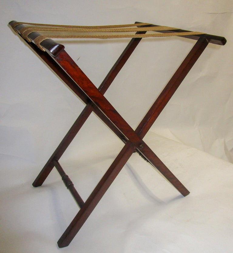 Regency Period Mahogany English Butler's Tray on Stand For Sale 1