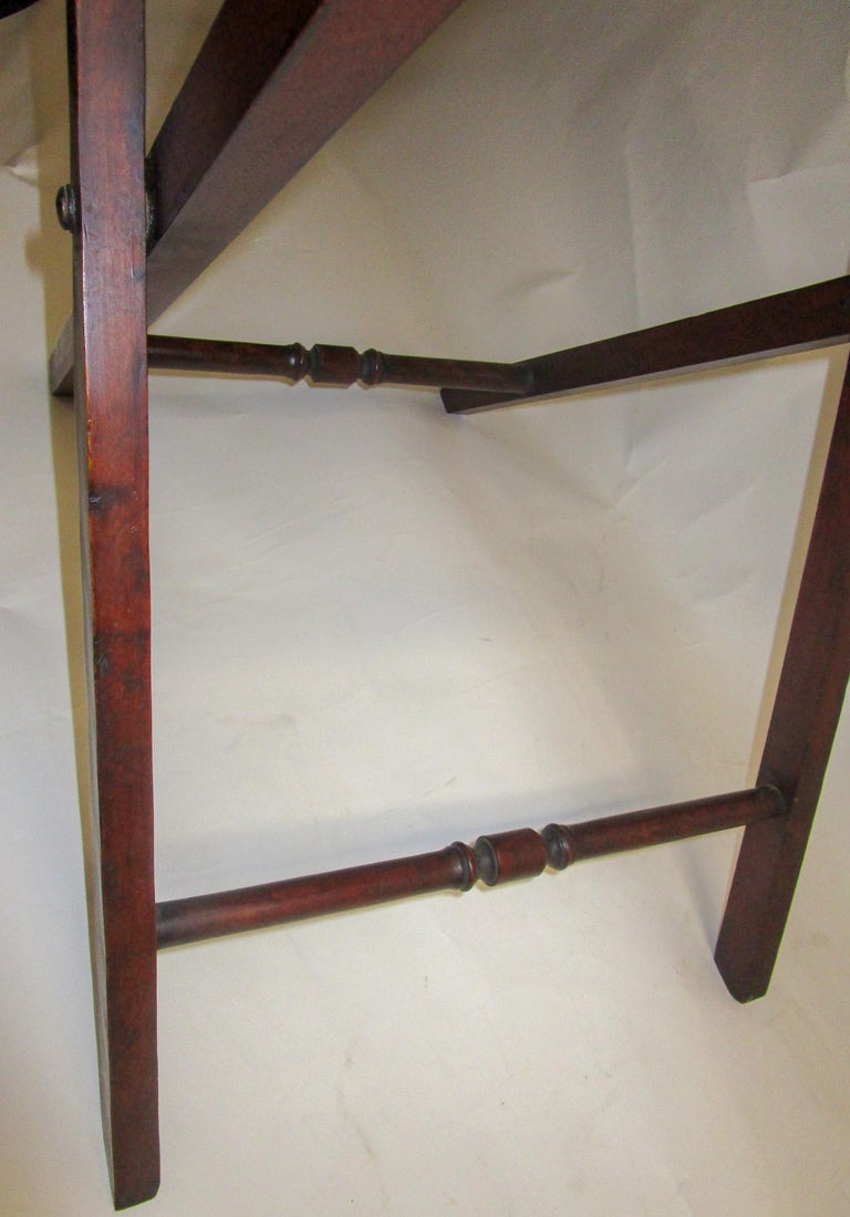Regency Period Mahogany English Butler's Tray on Stand For Sale 4