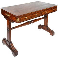 Regency Period Mahogany Library / Side Table, After Thomas Hope