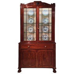 Regency Period Mahogany Secretaire Bookcase, Designs by Thomas Hope