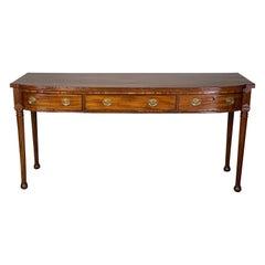 Regency Period Mahogany Sideboard Table