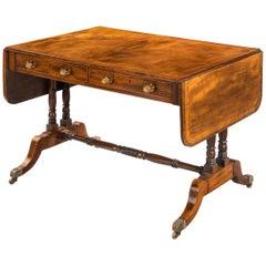 Regency Period Mahogany Sofa Table