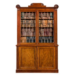 Regency Period Mahogany Two-Door Bookcase