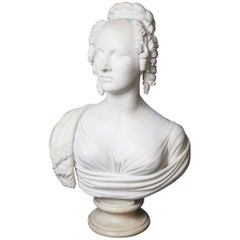 Regency Period Marble Bust of a Young Woman