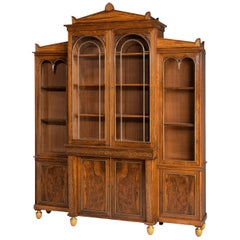 Regency Period Rosewood Bookcase / China Cabinet