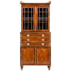 Regency Period Rosewood Three Drawer Bookcase