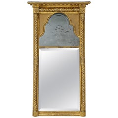 Regency Pier Mirror with Queen Anne Plates