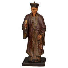 Regency Plaster Nodding Head Figure of a Chinese Official or Merchant by Robert