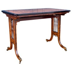 Regency Pollard Elm and Ebony Library Table