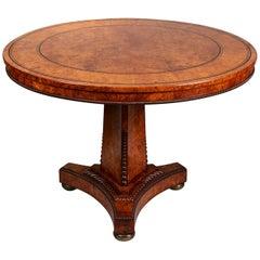 Regency Pollard Oak Centre Table in the Manner of George Bullock