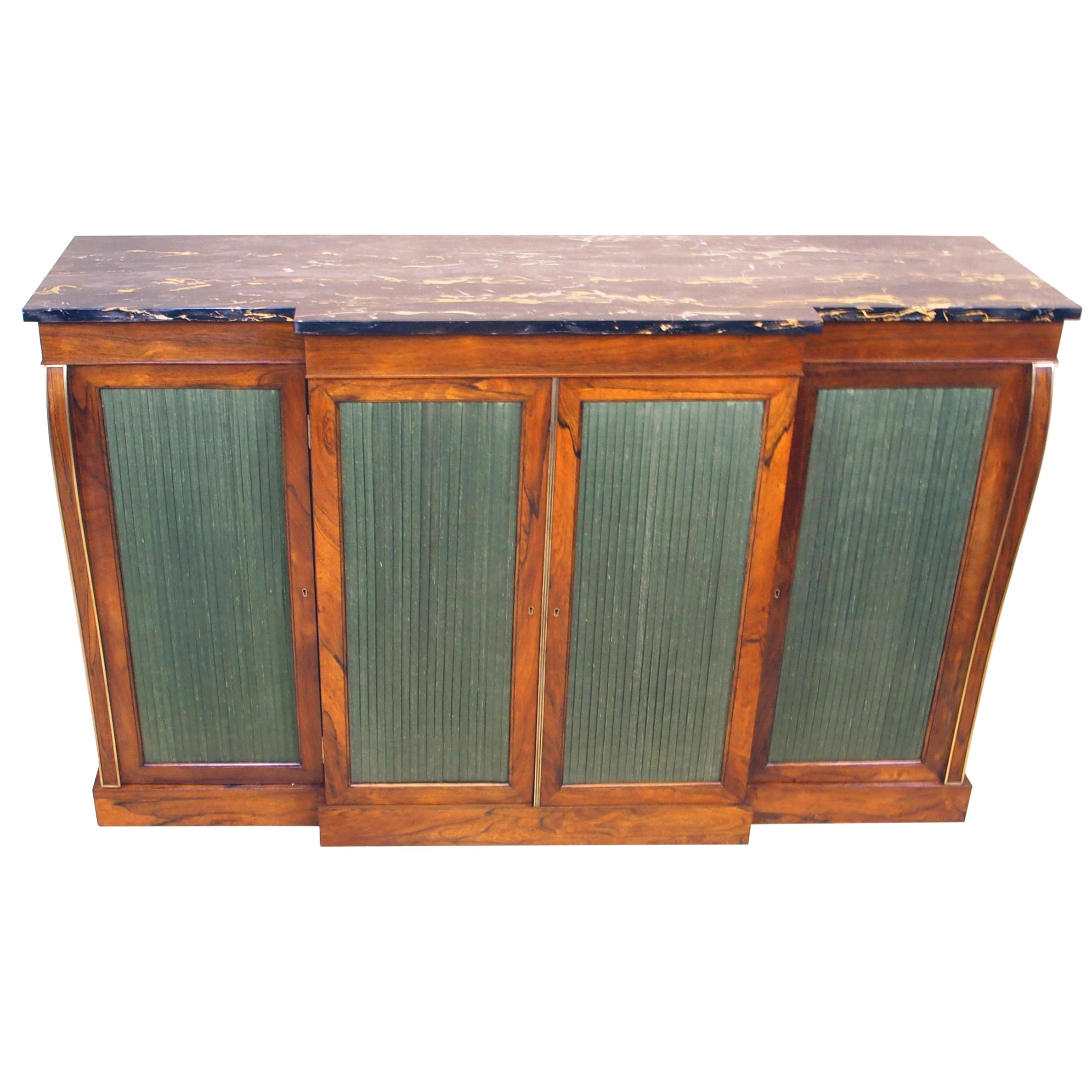 Regency Rosewood 19th Century Breakfront Side Cabinet