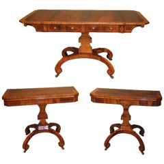 Regency Rosewood and Boxwood Drawing Room Furniture