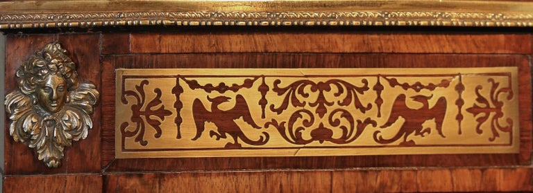 Great Britain (UK) Regency Rosewood and Brass Chiffonier, after Designs by John Mclean For Sale