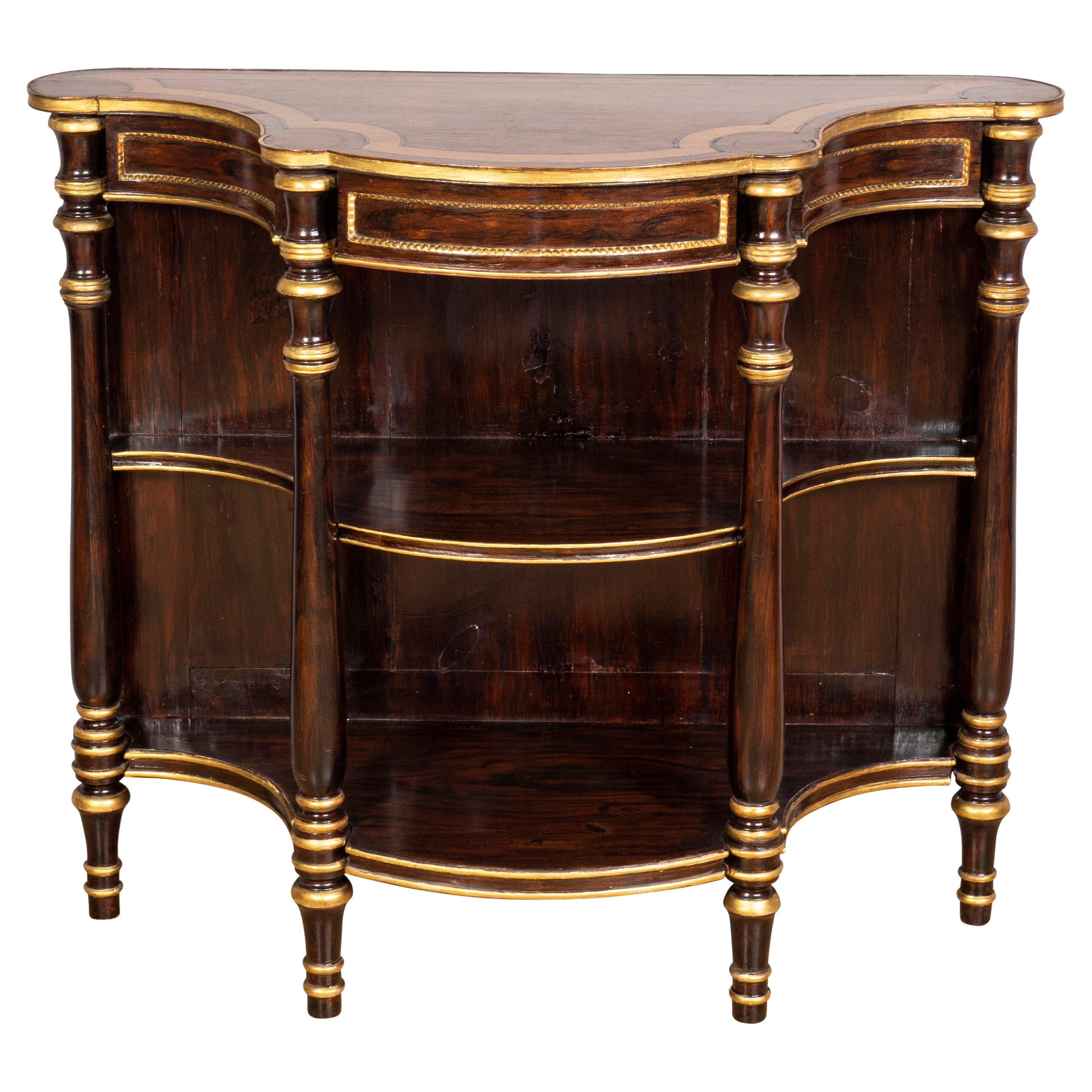 Regency Rosewood and Faux Rosewood Console Table