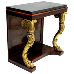 Regency Rosewood and Giltwood Console Table