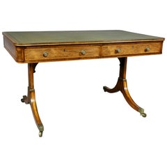 Regency Rosewood and Giltwood Writing Table