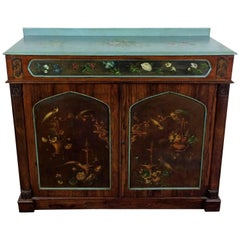 Regency Rosewood and Slate Paneled Side Cabinet