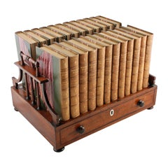 Fine 19th Century Regency Rosewood Book Stand With A Drawer