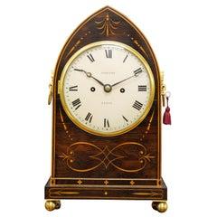 Regency Rosewood Bracket Clock by William Radford, Leeds