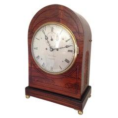 Regency Rosewood Bracket Clock Richard Widenham, London, Circa 1830