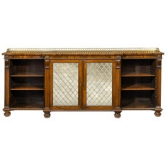 Regency Rosewood Breakfront Side Cabinet/Open Bookcase