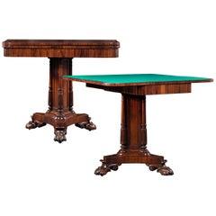 Regency Rosewood Card Tables