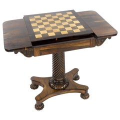 Regency Rosewood Chess and Occasional Table, Attributed to Gillows of Lancaster